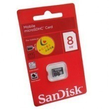 Sandisk 8GB 8G Micro SDHC Class 4 TF Memory Card
