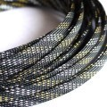 Deluxe High Density Weave Black/Gold/Silver Cable Sleeve (10mm)