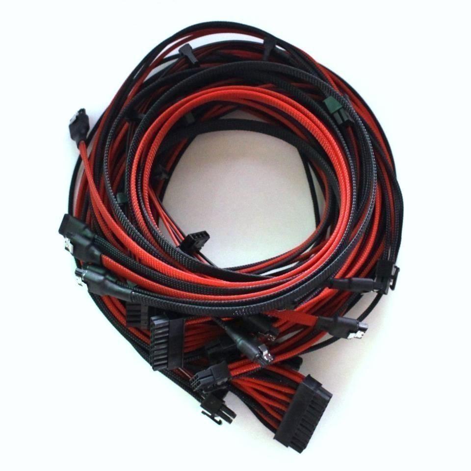 Seasonic single sleeved power supply modular cables sata for Mega comble