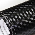 Extra 3D Black Carbon Fibre Sticker 3D Matt Dry Vinyl with Texture