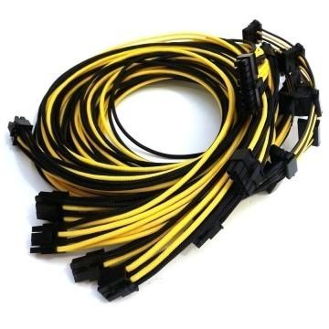 Seasonic Platinum Single Sleeved Modular Cable Set (Black/Yellow)