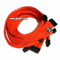 Corsair AX Series Single Sleeved Power Supply Modular Cables Kit (UV Orange)