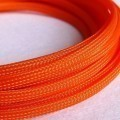 Deluxe High Density Weave Orange Cable Sleeve (10mm)