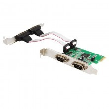 PCI-Express PCIe to 4 Port RS-232 DB9 Serial Card (MosChip MCS9904)