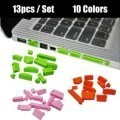 Silicone Anti Dust Port Protective Cover Set for Laptop (13pcs)