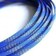 Deluxe High Density Weave Blue/Gold Cable Sleeve (6mm)
