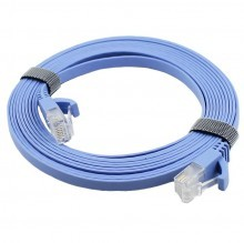 High Quality Ultra Flat Cat6 LAN Ethernet Network Patch Cable (1M)