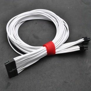 Seasonic X Series Modular Power Supply PSU 24-Pin Single Sleeved Cables (White)