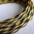 Deluxe High Density Weave Black/Yellow Cable Sleeve (4mm)