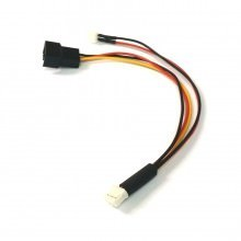 Mini 3-Pin GPU (Female) to Mini 2-Pin GPU (Male) / 4-Pin Fan (Male) Cable Splitter