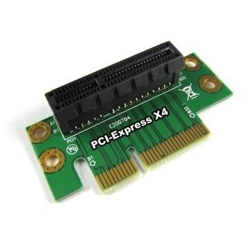 Gold Plated Premium PCI-E 4X 90 Degree Right Angle Riser Card