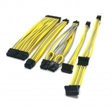 SilverStone 600W SFX Premium Single Sleeved Modular Cable (Yellow/Grey)