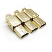 Gold Plated Mini USB 5-Pin Male Connector