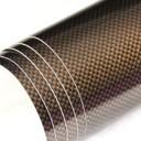 Glossy Brown Carbon Fibre Sticker 3D Matt Dry Vinyl with Texture