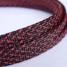 Deluxe High Density Weave Black/Red Cable Sleeve (8mm)