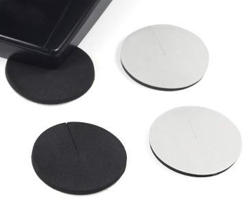 Premium Rubber Case Feet 45mm Black (4 Pack)