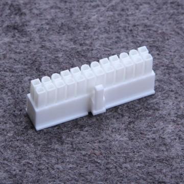 24-Pin PSU Main Power Female Connector w/ Pins - White