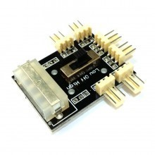 Molex Power Distribution PCB 6-Way 3-Pin Block Fan Hub Power Splitter