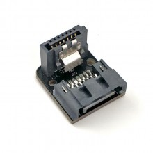 SATA3 SATA III 6Gbps 90 Degree Angled SATA Data Connector Mini Adapter