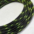 Deluxe High Density Weave Black/UV-Yellow Cable Sleeve (12mm)