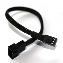 Fan 4-Pin PWM to 3-Pin Sleeved Adapter Cable