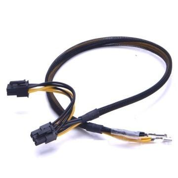 DELL1950 2950 PE1950 2950 2x 6 Pin PCI-E Sleeved Cable (50cm+10cm)