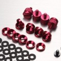 Jonsbo Premium PC Mod Aluminium Alloy Screws & Washer Set (95pcs) Red