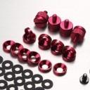 Jonsbo Premium PC Mod Aluminium Alloy Screws & Washer Set (95pcs) Red
