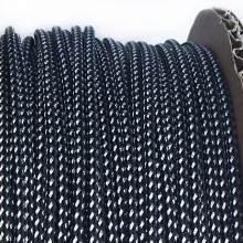 Deluxe High Density Weave Black/Silver Cable Sleeve (3mm)