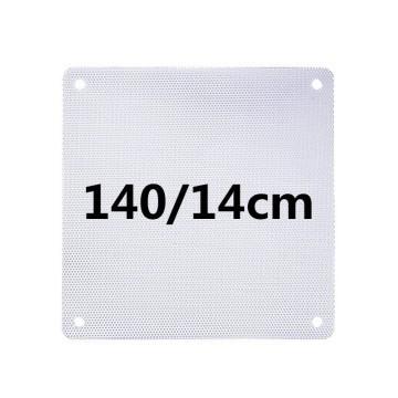 White PVC Ultra Thin 0.45mm Computer Case Fan Dust Filter  14cm