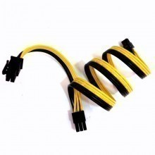 Corsair Style 6 Conductor Flat Ribbon Cable Wire (18AWG Black/Yellow)