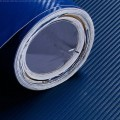 Dark Blue Carbon Fibre Sticker 3D Matt Dry Vinyl with Texture