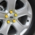 High Quality Silicone Car Wheel Hex Nuts Hub Screw Dust Covers (Yellow)