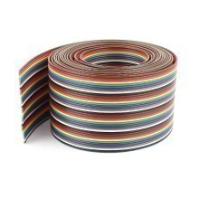 2.54mm Pitch Dupont 40-Pin Rainbow Flat Ribbon Cable