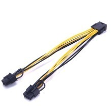 Bitcoin Mining CPU 8pin TO 2 PCI-E 6+2pin Splitter Cable