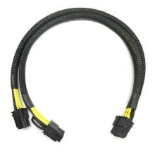 Dell 8-Pin to 2 x 6-Pin PCI-E Premium Sleeved Power Cable (30cm)