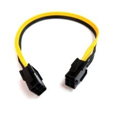 PCI-e 6 Pin to 6 Pin Male to Male PCI-Express Power Cable (30cm)