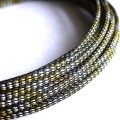 Deluxe High Density Weave Black/Gold/Silver Cable Sleeve (4mm)