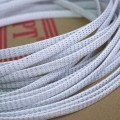 Deluxe High Density Weave White/Silver Cable Sleeve (8mm)
