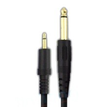 Premium Gold Plated 6.35mm Male Mono to 3.5mm Male Mono Cable 100cm