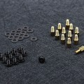 Premium Motherboard Standoffs Screws Washers Kit Set (Black / Silver)