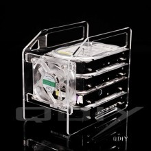 QDIY Professional Modder Acrylic 4-Bay HDD Rack Tray (Y4F)