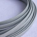 Deluxe High Density Weave Grey Silver Cable Sleeve (10mm)