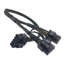 HP Server DL380 Gen6 10 Pin to 8 Pin and 6 Pin GPU PCIE Power Cable