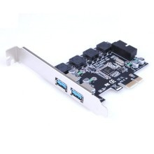 PCI-E 1X to 2 x 5Gbps USB 3.0 Type-A + 20-Pin Header Extension Card