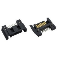 SATA Data 7-Pin Male Right Angle Half Shielded Connector (Black)