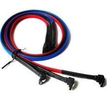 SATA II High Speed Cable with Latch (60cm) Sleeved