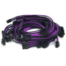 Seasonic Platinum Series Premium Single Sleeved Cables (Black/Purple)