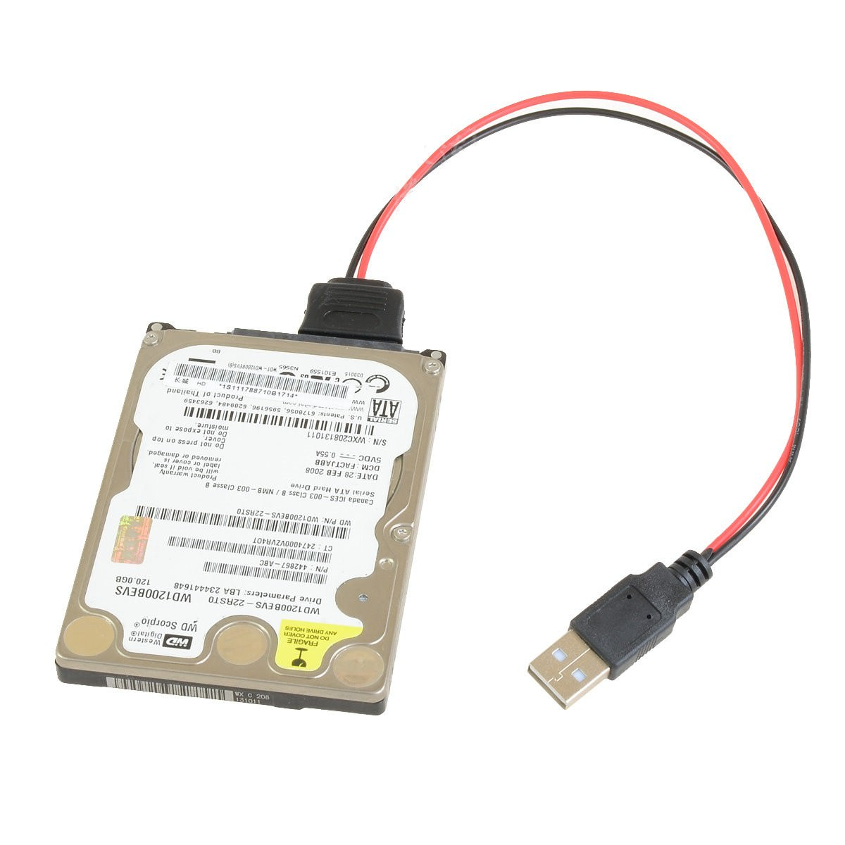 USB to 2.5 SSD 5-Pin SATA Power Adapter Cable (20cm) - modDIY.com