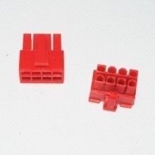 8-Pin 12V EPS Power Female Connector w/ Pins - Red